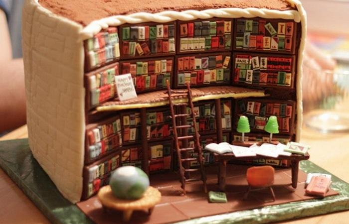 Библиотечный торт.