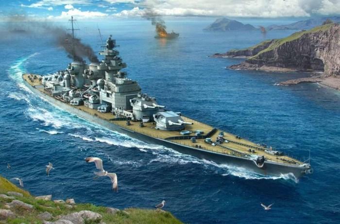 Бисмарк потопил британский флагман.