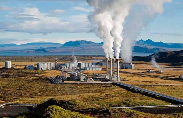 Геотермальная станция в Исландии.