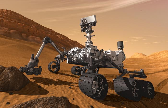 Марсоход Curiosity запитан от ядерного генератора.