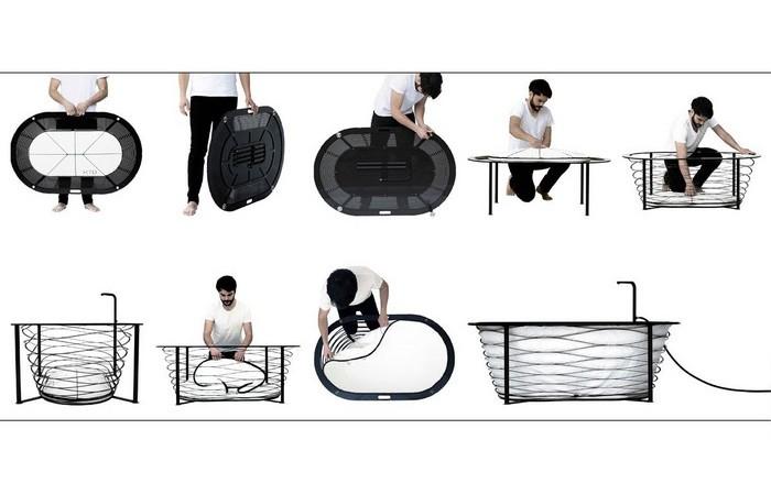 Этапы сборки XTEND bathtub.