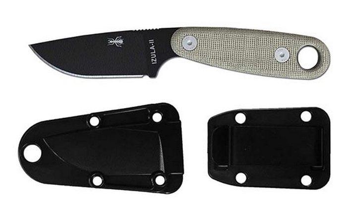Эргономичная рукоять ножа отделана специальным покрытием «canvas micarta».