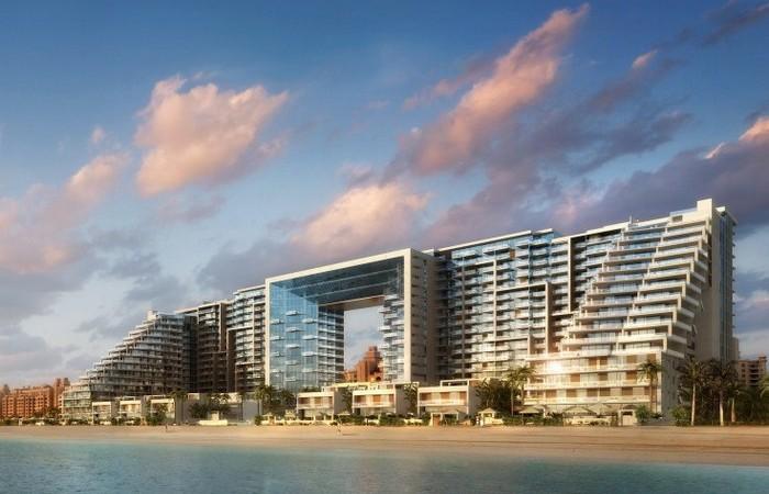 Курортный комплекс на рукотворном острове Palm Jumeirah.