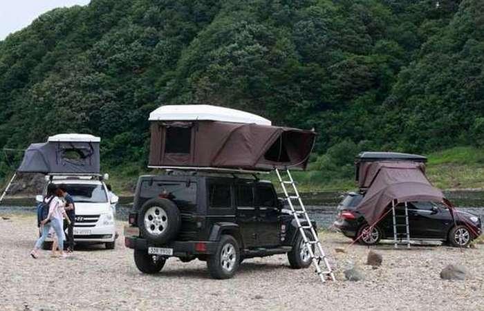 Палатка на крыше автомобиля iKamper Hardtop One.
