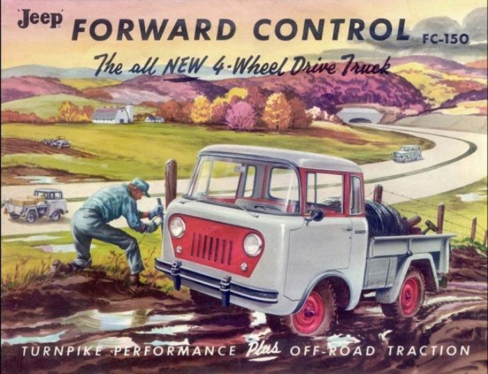 Рекламный постер Jeep Forward Control.