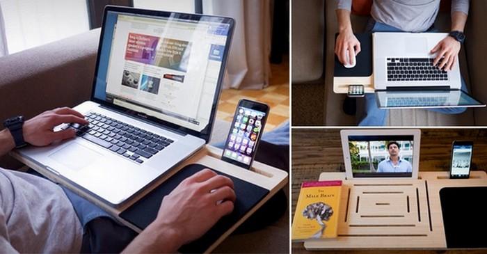 LapPad поможет справиться с дискомфортом.