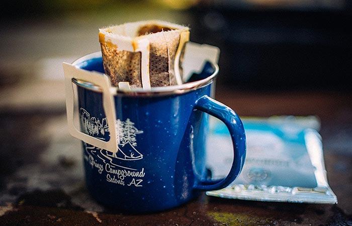 Кофейный пакетик, который работает как кофеварка.