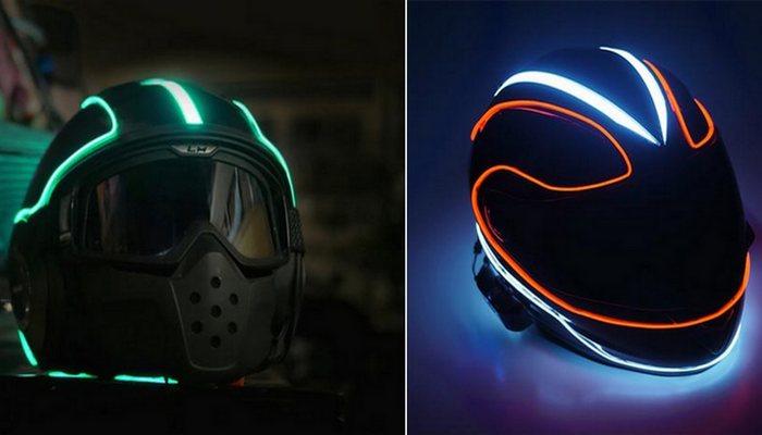 Замысловатые узоры шлема.