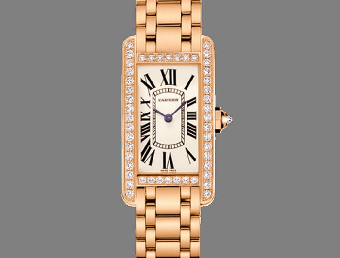 Cartier Tank Americaine Small Model Watch.