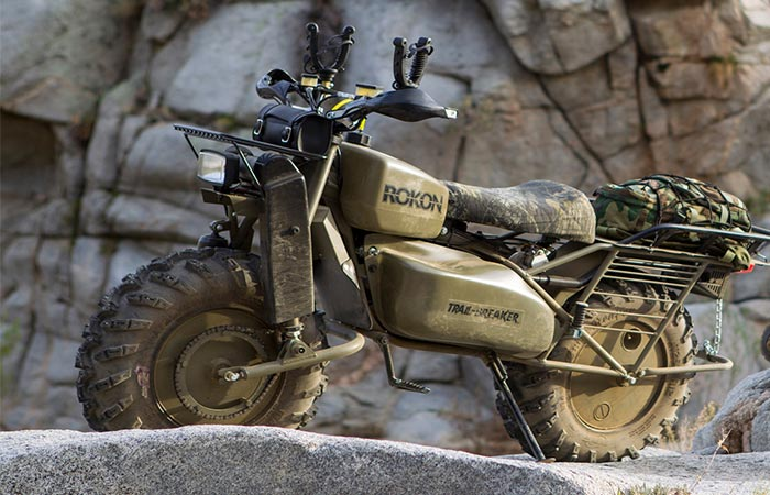 Мотовездеход Rokon Trail-Breaker Dirt Bike.