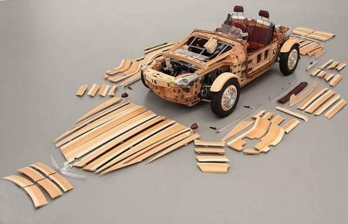Кузов собран по принципу конструктора.