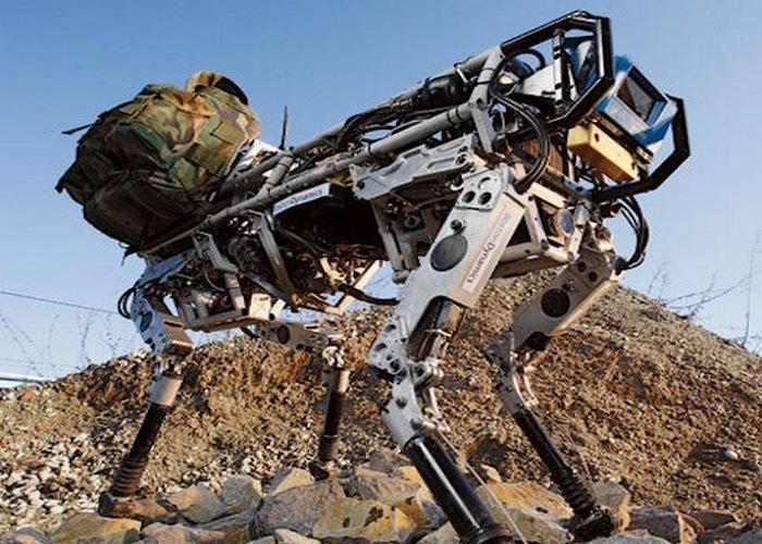 Причудливые роботы-ослики.