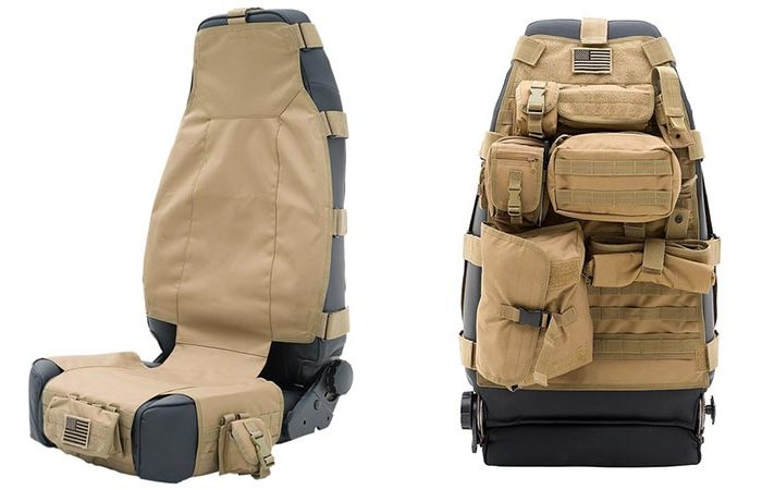 Автомобильные чехлы-сумки Smittybilt Tactical G.E.A.R. Seat Covers.