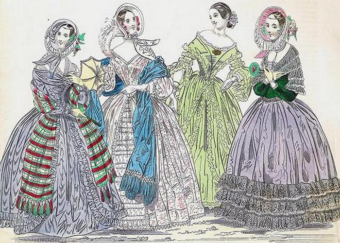 Развевающиеся юбки.