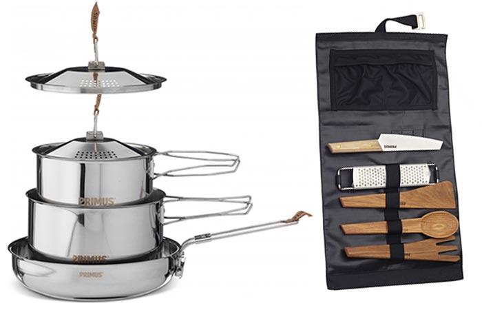 Набор посуды создан специально для Primus Campfire Range.