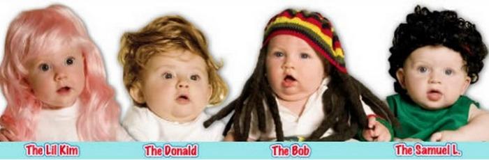 Печально и абсурдно: детские парики.