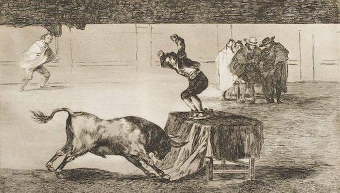 Гравюры серии «Тавромахия» Франсиско Гойя во Франции.