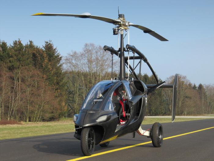 PAL-V - гибрид мотоцикла и вертолёта.
