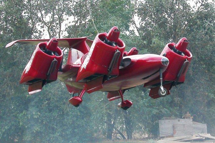 Moller Skycar в полёте.