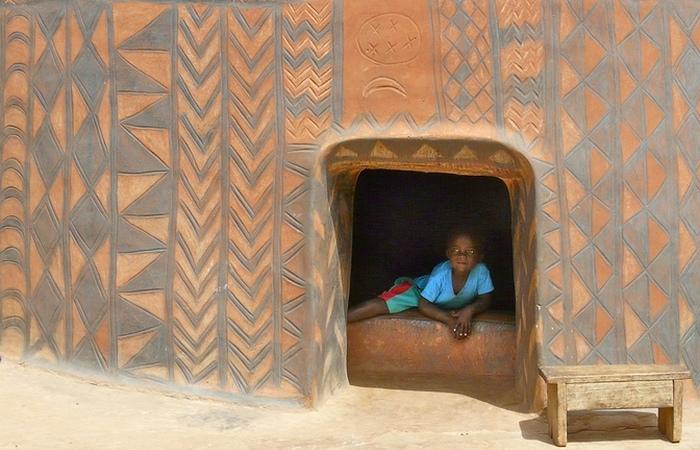 Невероятно живописная деревня в Буркина-Фасо.