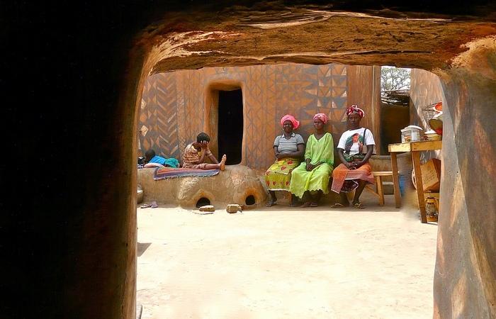 Жители деревни.