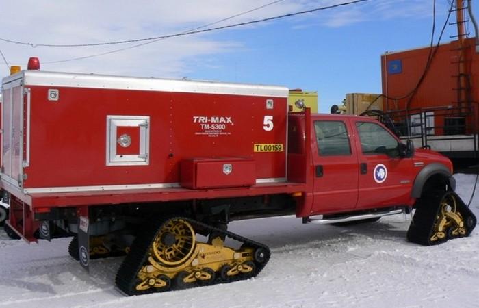 В Антарктиде есть пожарная часть.