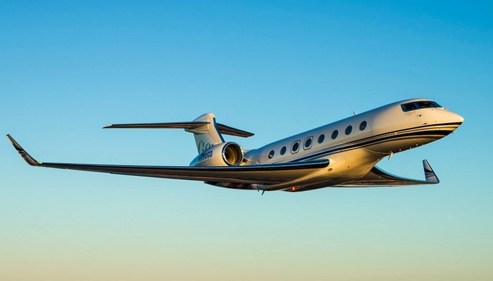 Пассажирский самолет Gulfstream G650.