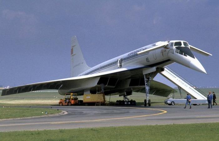 Реактивный пассажирский самолет ТУ 144, Париж, Ле-Бурже, июнь 1973г.