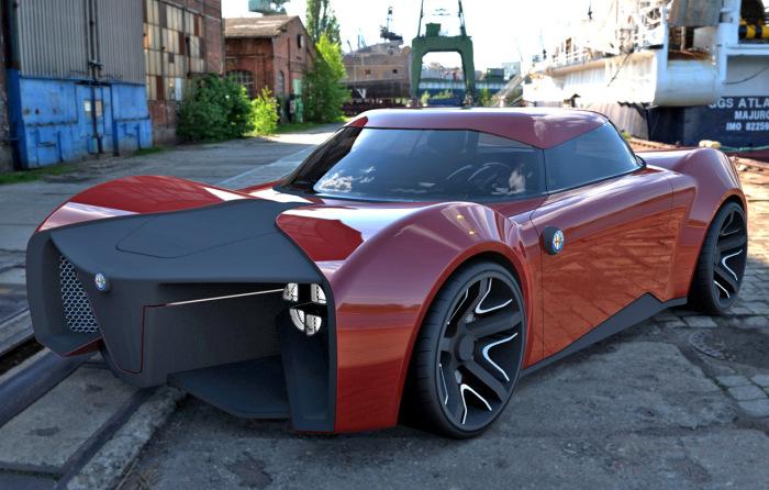Брутальный Alfa Romeo.