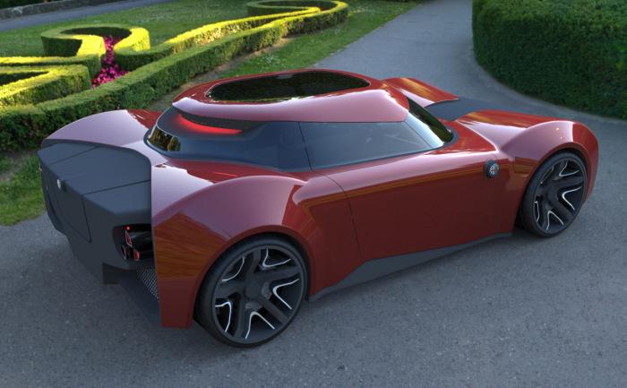 Alfa Romeo Feroce - итальянский бренд  глазами казахского дизайнера.