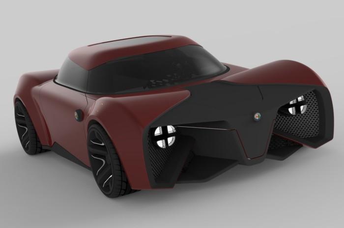 Alfa Romeo Feroce: брутальность и дух бренда.