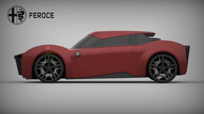 Alfa Romeo Feroce - зверь с электромотором.