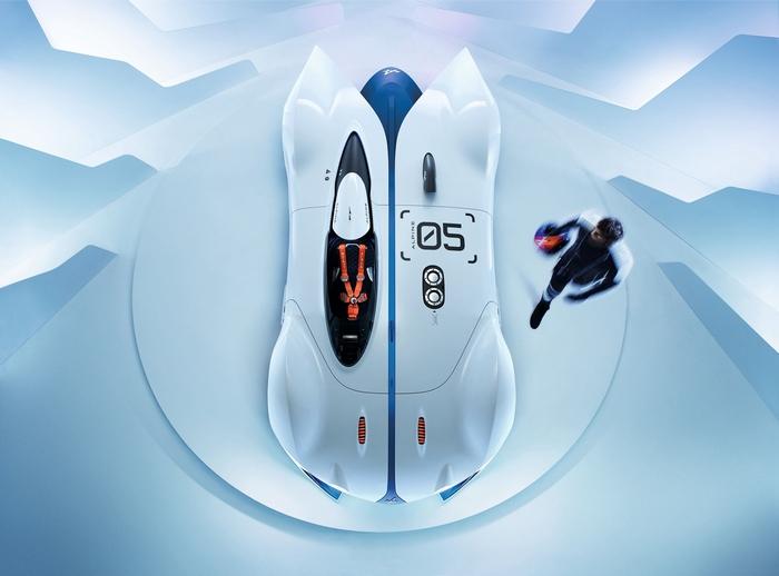Спорткар Alpine Vision - французский одноместный болид.