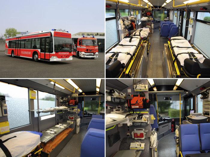 Mercedes-Benz Citaro - огромный медицинский автобус.