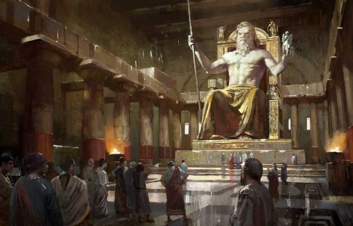 Статуя Зевса.