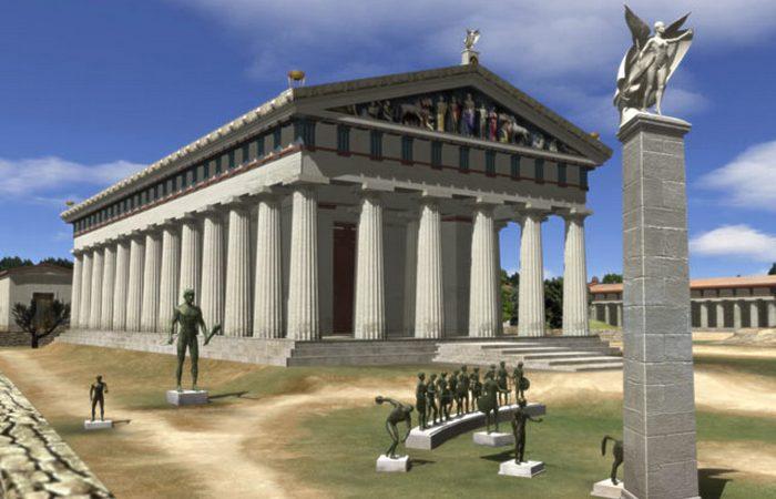 Храм Зевса в Олимпии.