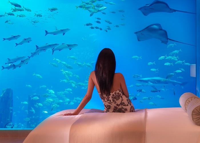 Аквариум отеля «Atlantis» в Дубае.