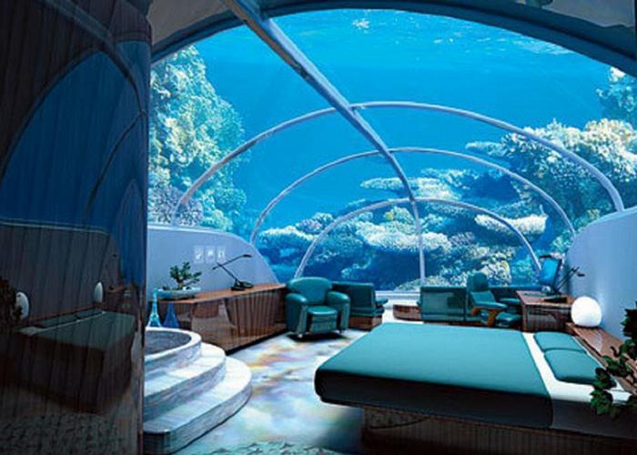 Аквариум отеля «Reverse Aquarium».