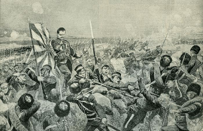 Сражение в Маньчжурии.