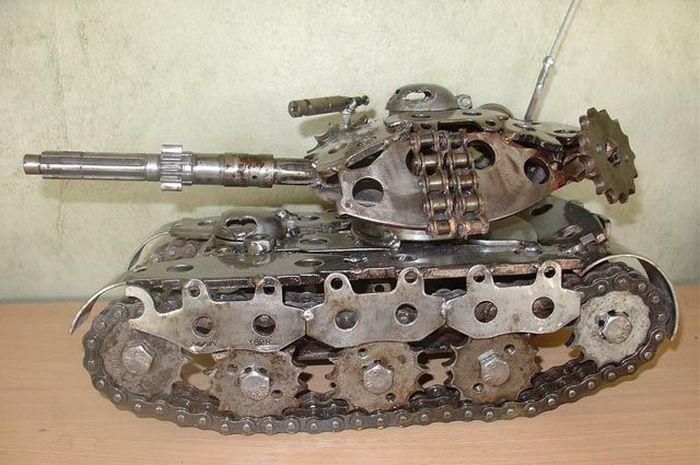 Двс для модели танка своими руками