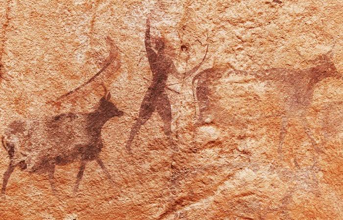 Пещерная живопись, которую пытались украсть воры.