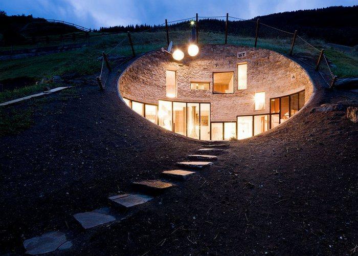 «Дом хоббита» от «Christian Muller Architect».