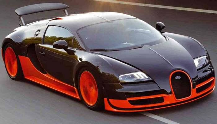 Автомобиль Bugatti Veyron Super Sport.
