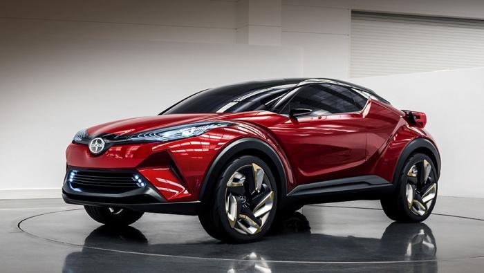 Выглядит очень агрессивно новая Toyota C-HR.