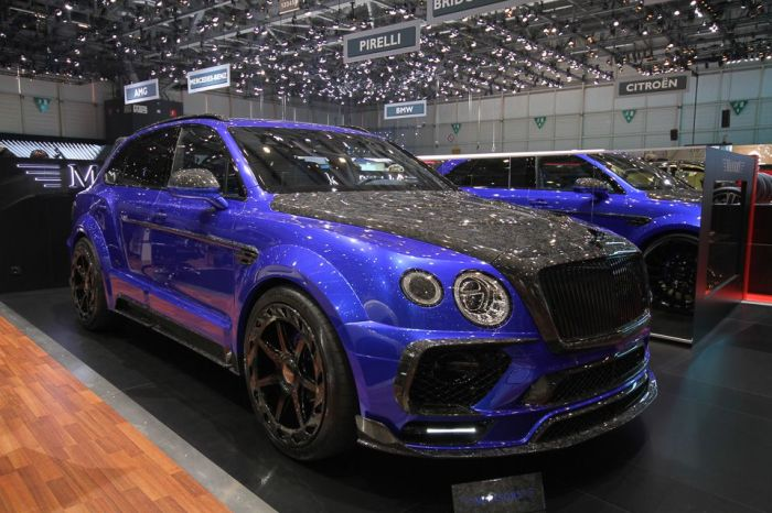 Невероятно ядовитый Mansory Bentley Bentayga «Bleurion Edition».