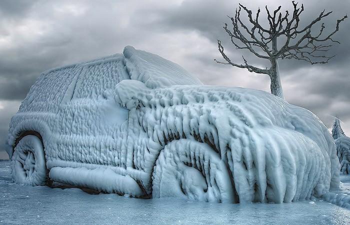 Авто, зима, лед...