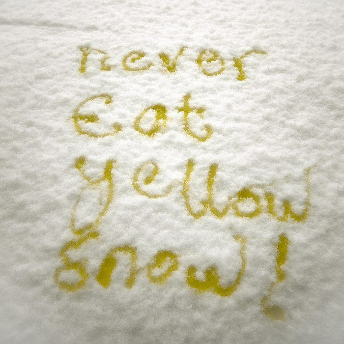 Желтый снег.
