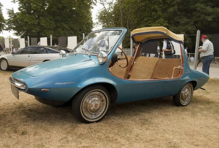 Автомобиль с плетённым салоном.
