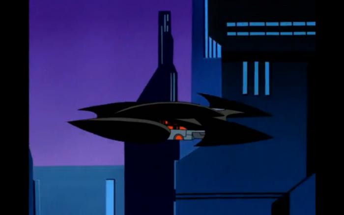 летательный аппарат, который также отдаленно походит на бэтмобиль.