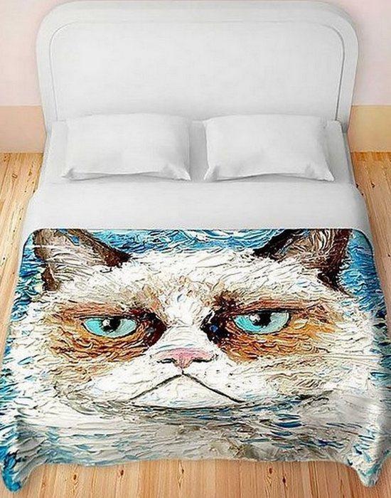 Оригинальное белье «Grumpy Cat».